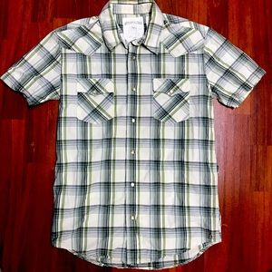 Aeropostale men's short sleeve western style small